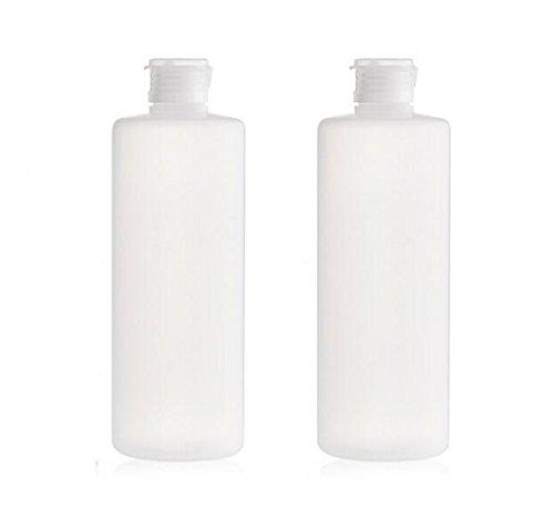 2 PCS Leere Nachfüllbare Kunststoff Klar Weichen Schlauch Squeeze Flasche Gläser Mit Flip-Cover Kosmetik Make-Up Lagerung Halter Container für Toner Lotion Duschgel Shampoo (200ml/7oz)