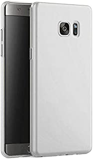 Matte Hard Plastic Cover for Samsung Galaxy Note FE (Silver)