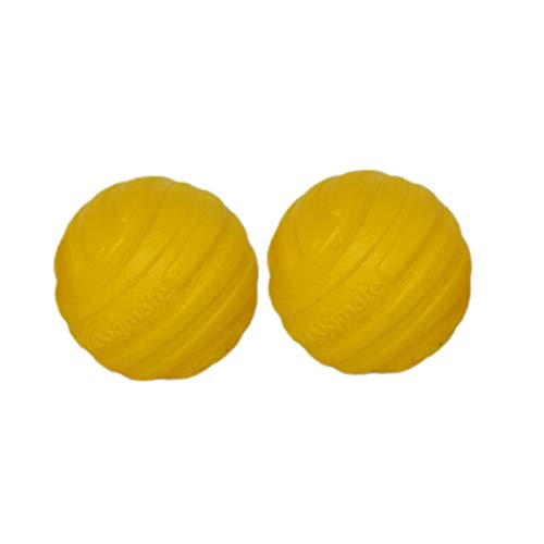 "IDOGMATE Tennis Balls for Dogs, 1.75"" Ball Dog Toy for Small Launcher, Dog Balls,Durable, Washable (2pcs)"