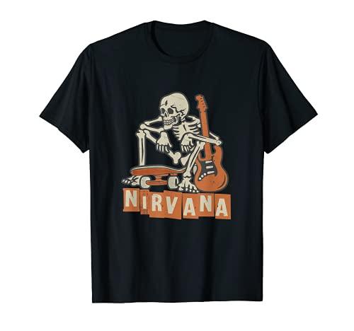 Skateboard-Liebhaber Nirvana-Skelett T-Shirt T-Shirt