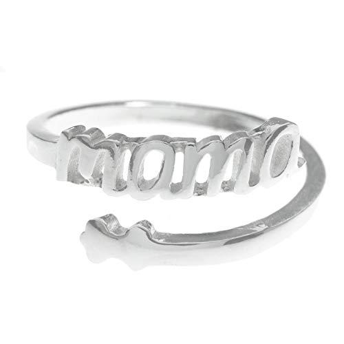 Anillo Mamá ajustable de Plata de Ley 925 - Regalos para mamá originales