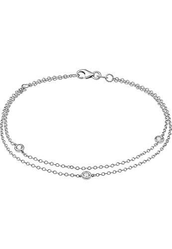 CHRIST Diamonds Damen-Armband 585er Weißgold 3 Diamant One Size 87305163