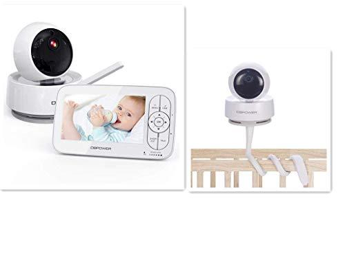 DBPOWER 1080P Baby Monitor & Baby Monitor Camera Shelf Mount Crib Mount