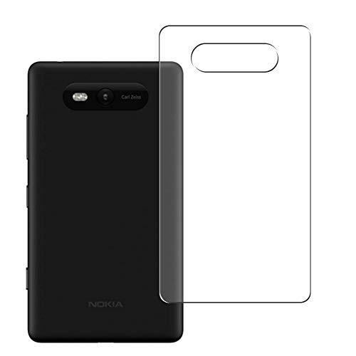VacFun 2 Pezzi Pellicola Protettiva Posteriore, compatibile con NOKIA Lumia 820 (Non Vetro Temperato Protezioni Schermo Cover Custodia) Back Film Protettivo
