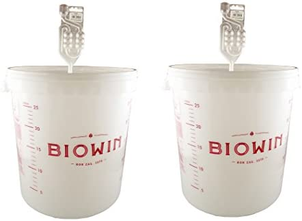 30L Fermentation Buckets, Accessories & Spares for Home Brewing (Bucket + Airlock)