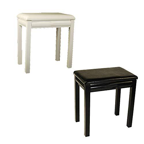 PN-Braes Keyboardbank Universal-Klavierbank Schwarz/Weiß-Tastatur Stuhl aus Leder mit 61 Tasten 88-Tasten-Piano Hocker Duet Piano Hocker (Color : White, Size : 44x28x48cm)