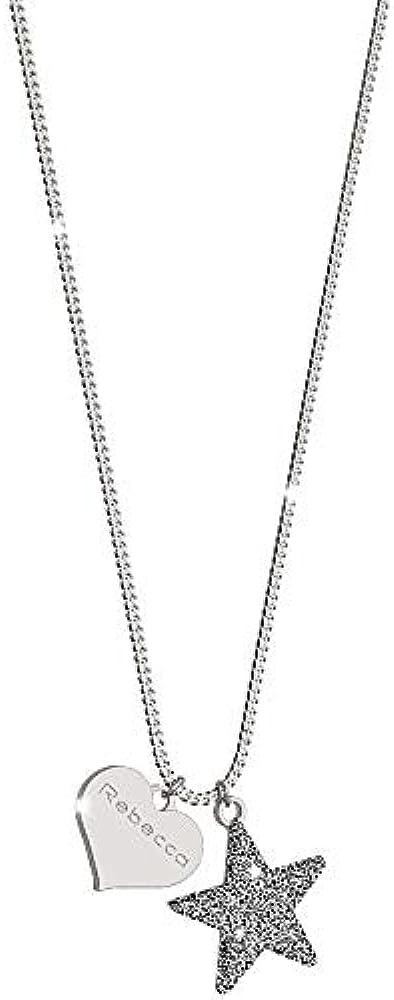 Rebecca collana per donna in argento 925 e sabbia di diamanti con pendente SJOKAA15