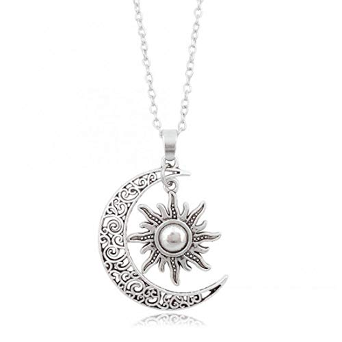 Necklace Crescent Moon and Charms Necklace Sweater Chain Necklace Dropship Jewelry Choker Gift for Women