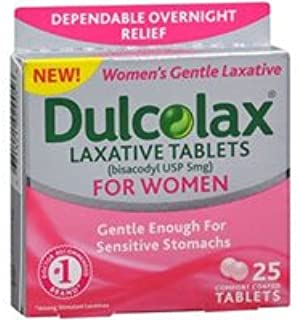 Dulcolax Laxative Tablets for Women, 5 mg, 25 Tabs (Pack of 4)