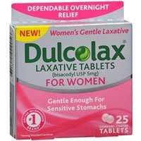 Dulcolax Laxative Tablets for Women, 5 mg, 25 Tabs (Pack of 2)