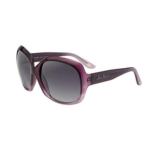 LianSan Occhiali da sole polarizzati Oversize & Round Women Shades Eyewear Occhiali da vista classici Occhiali da vista Fashion Style UV400-Shining For Ladies L3113 (Viola polarizzato)