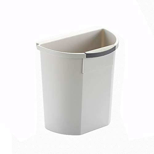Trash Can Waste basket/Outdoor Dustbins Wall-mounted Kitchen Trash Can Creative Cabinet Door Storage Barrel Without Cover Plastic Small Storage Box(8 liters / 2.1 gallons) Waste Container/Indoor Dustb