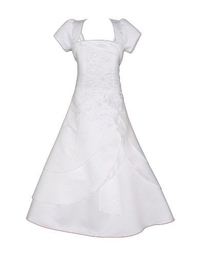 Cinda Mädchen Brautjungfer / Heilige Kommunion Kleid- 152-158 (12-13 Years), Weiß