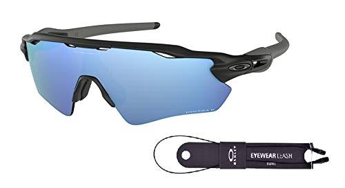 Oakley Radar EV Path OO9208 920855 38M Matte Black/Prizm Deep H2O Polarized Sunglasses For Men+BUNDLE with Oakley Accessory Leash Kit