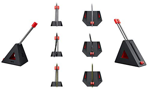 BenQ Zowie CAMADE II Gaming Mouse Bungee, Performance für e-Sport Professional, Kabelmanagement, einfach zu tragen, Schwarz/Rot