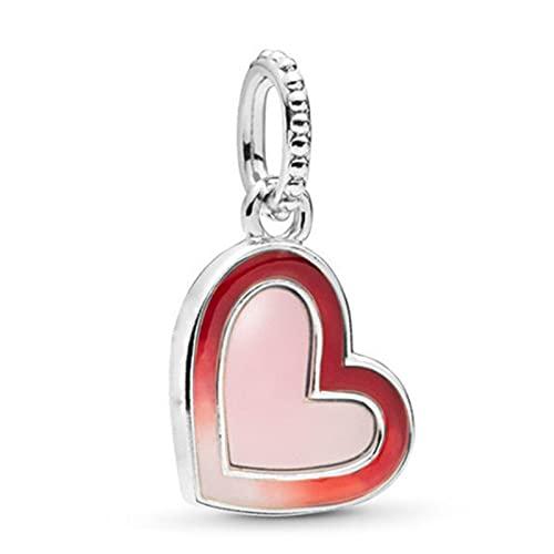 Pandora 925 joyería de plata esterlina colgantes novo bonito coração pingente contas adequado para charme pulseira senhoras jóias fazendo presentes