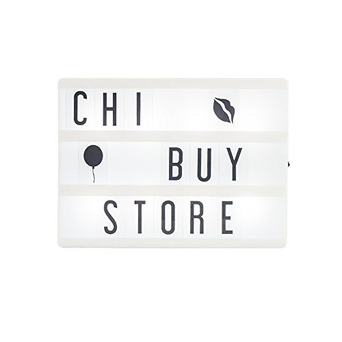 Cinema Light Box with 85pcs Letters, Number, Emojis Cards USB Powered Cinematic Marquee Sign LightBox for Wedding, Birthday Party Xmas Decor LED Light Up Night Light Letters Light Box Sign