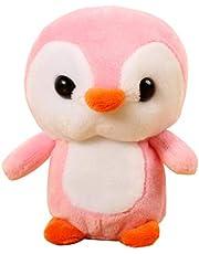 Tree-it-Life Pinguino Peluche Ciondolo Super Morbido Breve Peluche PP Cotone Bambola Ciondolo Acquario Regalo Cartone Animato Carino Regalo di Compleanno - Rosa