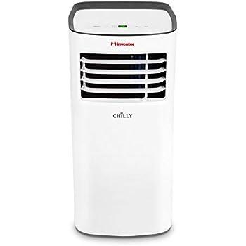 Inventor Chilly, Aire Acondicionado Portátil R290, 3 modos en 1 (Refrigeración, Deshumidificación, Ventilación), 2270 frigorías - 9000BTU/h, Mando a Distancia - 2 años de garantía