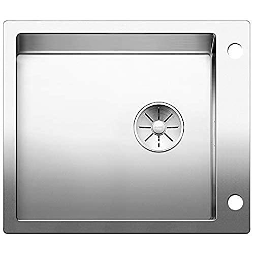 BLANCO Claron XL 60-IF/A Dampfgarplus, Küchenspüle mit Batteriebank, abgestimmt aufs Dampfgaren, für normalen und flächenbündigen Einbau, InFino-Auslauf, Edelstahl Seidenglanz; 521641
