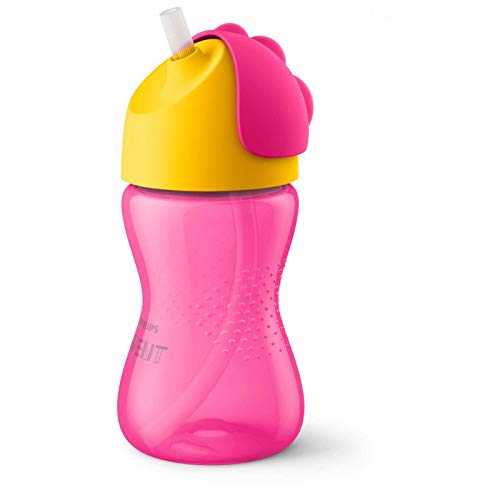 PHILIPS AVENT GIRL - Vaso para aprender a beber con pajita (300 ml)