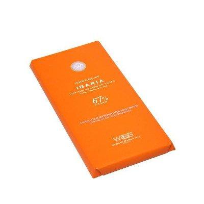 【WEISS】タブレット ノワール・イバリア オレンジピール入り 100g (カカオ67%)