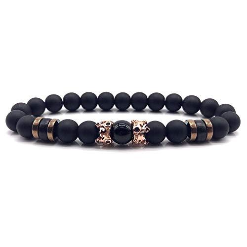 CHCO Bracelet Crown Men Bracelet Luxury Classic Beaded Charm Bracelet For Men Jewelry Gift 3