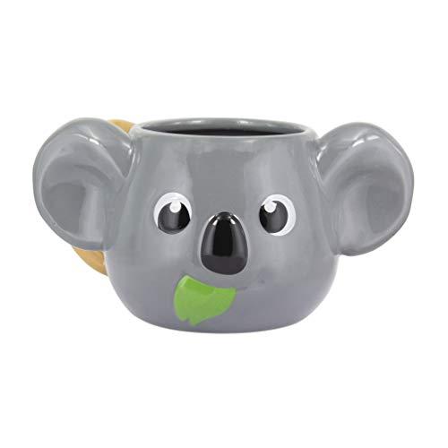 Paladone Koala Head Shaped Mug | Novelty Tea Or Coffee Cup | Cute & Super Fun Way of Drinking Your Favourite Beverage, Grey, Oversized