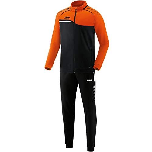 JAKO Herren Competition 2.0 Trainingsanzug Polyester, schwarz/Neonorange, L