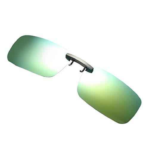 LUCKYCAT Hombres/Mujeres Clip en la Lente Gafas de Sol Polarizadas - Anti Reflejante Protección UV400 Cómodo y Seguro Ideal para Conducir y Pescar al Aire Libre