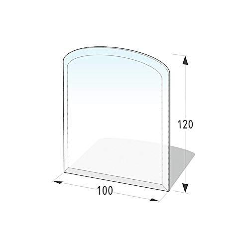 Lienbacher® - 21.02.882.2 - Funkenschutzplatte für Kaminofen - Glasplatte 8 mm (Zunge 1, flach) - mit Facette, klar