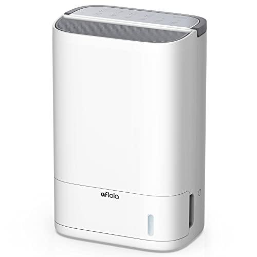 Trockenmittel Luftentfeuchter Afloia X3 für Keller mittlere/große Räume ca.40m², 10L/24H,Waschbarer Filter,Ablaufschlauch, niedrige Temperatur entfeuchten,leise intelligente Kontrolle,Timer,2,5L Tank