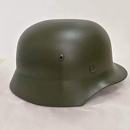 Knoijijuo 2 Casco. Segunda Guerra Mundial Ejército alemán WH Army M35 M1935 Casco de Acero WWII Casco con Forro de Cuero Casco de Acero