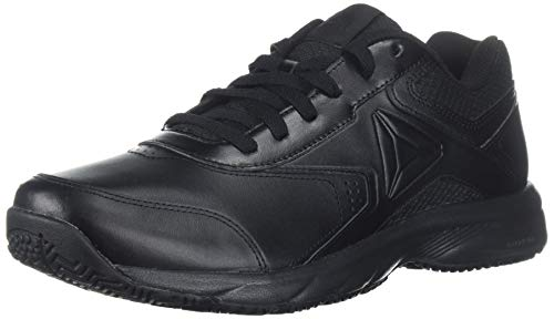 Reebok Men's Work N Cushion 3.0 4E Walking Shoe, Black/Black, 11 4E US