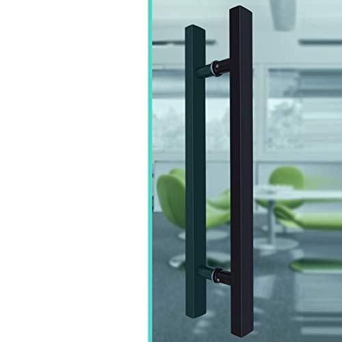 LPXPLP Empuñadura de Puerta Pesada - Manija de Puerta de Vidrio de Acero Inoxidable, para el hogar/Tienda/Garaje/Oficina - Negro - 5 tamaños (Tamaño: 120 * 80 cm)