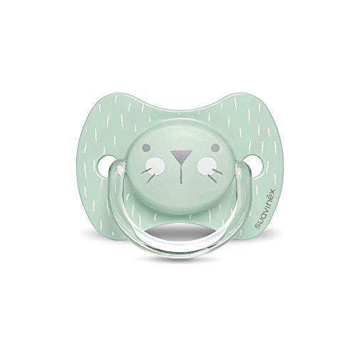 Suavinex 306589 - Chupete Premium para Bebés 0-6 Meses, Chupete con Tetina Fisiológica de Silicona, 0% Bpa, Color Verde, Unisex