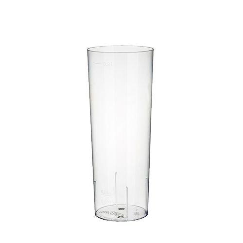 50 Gläser für Longdrinks, PS 0,3 l Ø 5,85 cm · 15,2 cm glasklar Plastik Longdrinkglas Bierglas Kölschglas