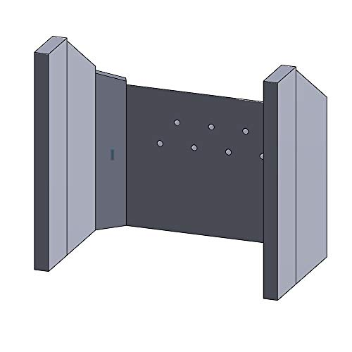 Flamado Feuerraumauskleidung Komplettset 7-teilig passend für Aduro Kamin Ersatzteile Kaminofen Brennraumauskleidung Vermiculite 1.150°C