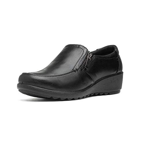 Cushion Walk Womens Black Flat Shoe - Size 6 UK - Black