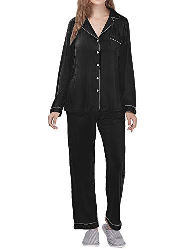 Menore Conjunto de Pijamas Mujer Homewear Ropa de Dormir Conjuntos de Pijamas de Manga Larga con Cuello en V Mujer per Hogar Casual