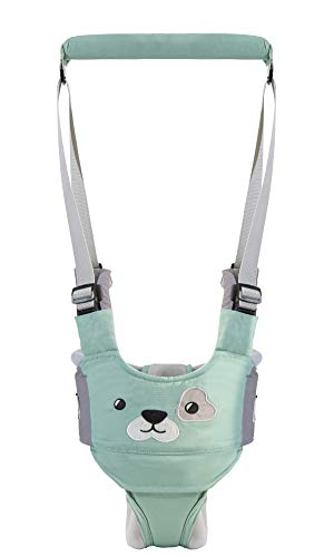 Baby Walker, Adjustable Baby Walking Harness Safety Harnesses, Pulling and Lifting Dual Use 7-24 Month Breathable Stand Up & Walking Learning Helper for Infant Child Activity Walker (Green)