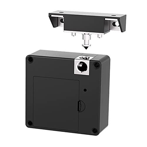 Amagogo Cerradura electrónica oculta para armario con tarjeta RFID, cerradura de privacidad, Bluetooth NFC para armario de madera, cajón, oficina en casa
