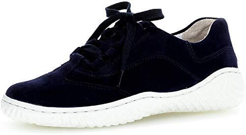 Gabor Damen Sneaker, Frauen Low-Top Sneaker,Best Fitting,Optifit- Wechselfußbett, schnürer schnürschuh sportschuh Damen Lady,Bluette,38 EU / 5 UK