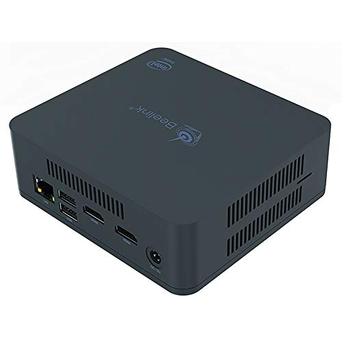 Beelink U55 Windows 10 Mini PC, Intel Core I3 5005U Prozessor Desktop Computer mit Intel HD Graphik 5500 / 8GB RAM + 256GB SSD/Dual-HDMI/Dual-WLAN / BT4.0 / Lüfter