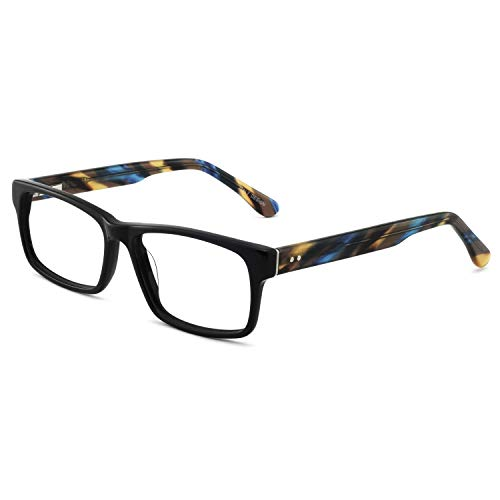 OCCI CHIARI Men Anti-blue light Rectangle Stylish Eyewear Frame With Non-Prescription Clear Lens