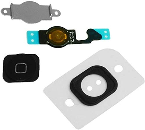 for iPhone 5C Home Button Homebutton with Rubber Ring Flex Cable and Sensor Assembly (Black)