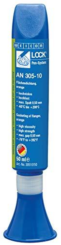 WEICON 30510150 WEICONLOCK AN 305-10 50 ml Flächendichtung Abdichten von Flanschen orange