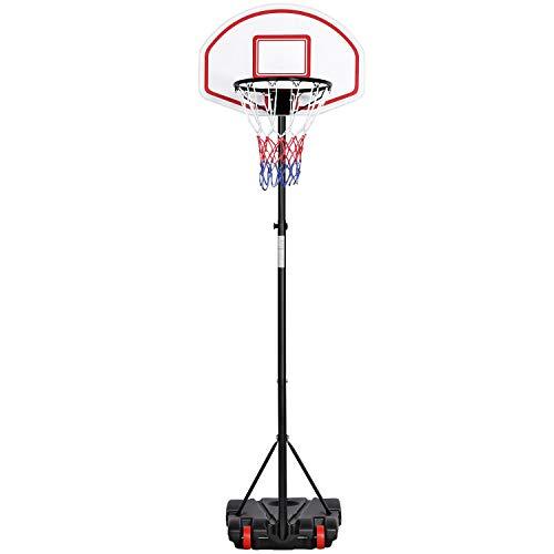 Yaheetech Basketballständer Basketballkorb Outdoor Korbanlage Basketballanlage Höhenverstellbar von 159 bis 214 cm
