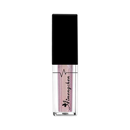 Farben Schimmer Matt Pigment Lidschatten Palette Nude Beauty Make-Up wasserdichte Langlebige Flüssige Samt Matte Lippenstift Makeup Lipgloss Lip Diamond Shiny Perlglanz Gloss (F)