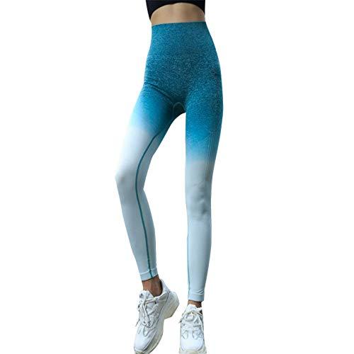 TOOGOO Femmes Pantalons De Yoga pour Gymnases De Gymnastique Pantalons De Compression sans Couture Pantalons sans Couture Taille Haute Stretch Leggings De Fitness Hanche Push Up (L)